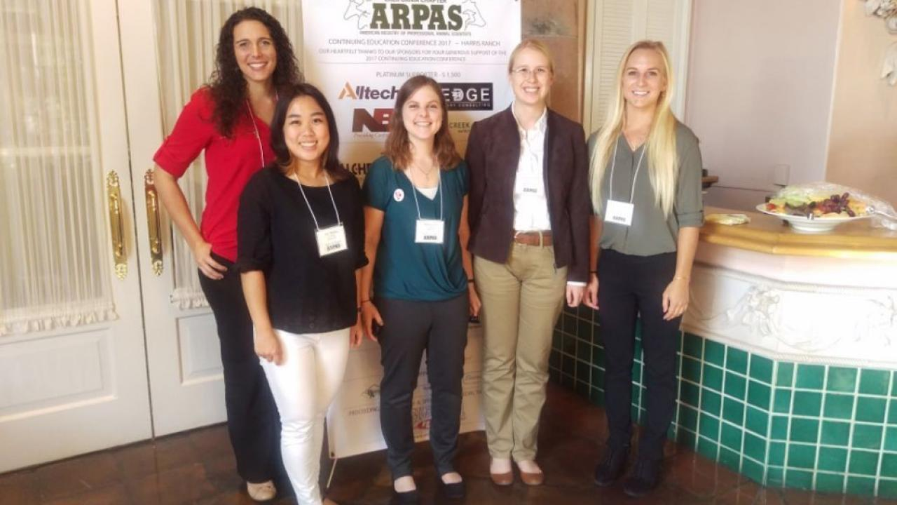 Ashley Niesen, Yuki Okatsu, Maia Laabs, Hannah Gautier, Morgan Wukadinovich; CA Chapter of ARPAS scholarship recipients